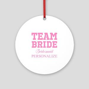 Team Bride | Personalized Wedding Ornament (Round)