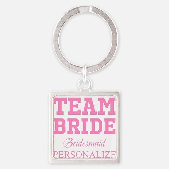 Team Bride   Personalized Wedding Keychains