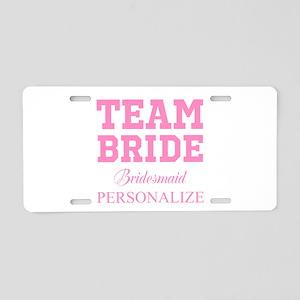 Team Bride | Personalized Wedding Aluminum License