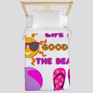 Life is good on the beach! Twin Duvet
