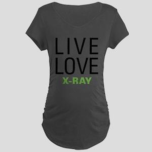 Live Love X-Ray Maternity Dark T-Shirt