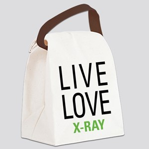Live Love X-Ray Canvas Lunch Bag