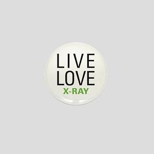 Live Love X-Ray Mini Button