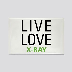 Live Love X-Ray Rectangle Magnet