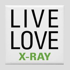Live Love X-Ray Tile Coaster