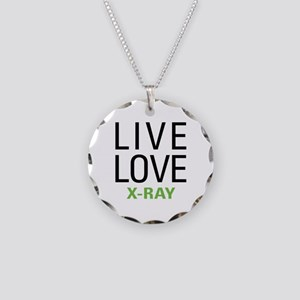 Live Love X-Ray Necklace Circle Charm
