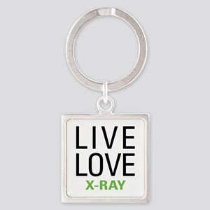 Live Love X-Ray Square Keychain
