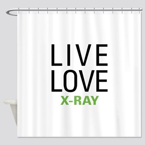 Live Love X-Ray Shower Curtain