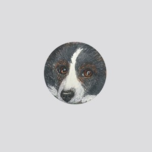 Thoughtful Border Collie dog Mini Button