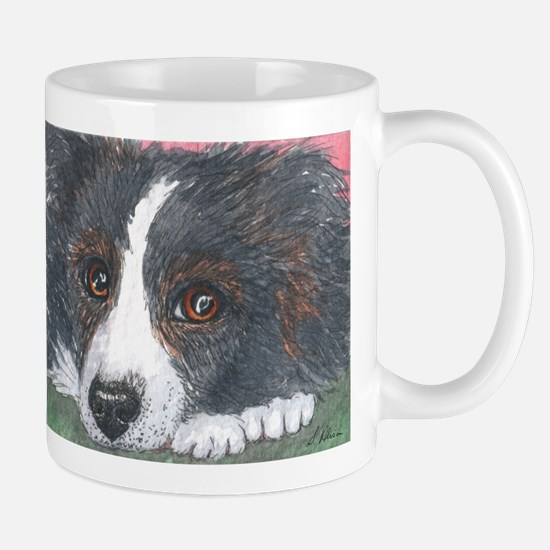 Thoughtful Border Collie dog Mugs
