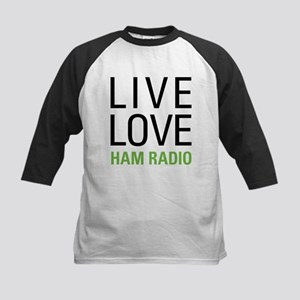 Live Love Ham Radio Kids Baseball Jersey