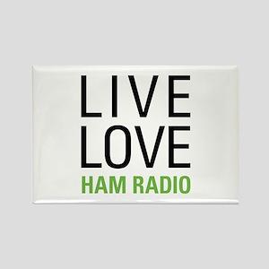 Live Love Ham Radio Rectangle Magnet