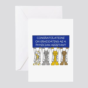 Physician Assistant Graduation Cong Greeting Cards