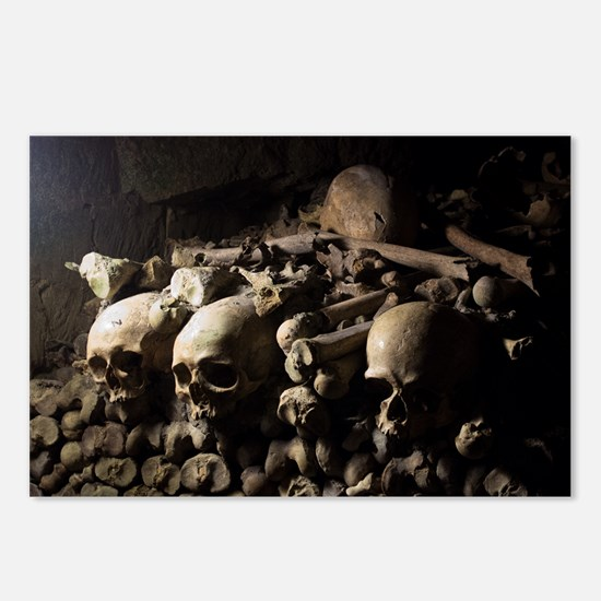 Les Catacombes Skulls Postcards (package Of 8)
