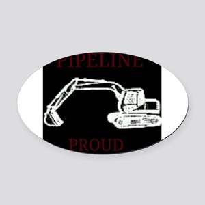 pipeline proud Oval Car Magnet