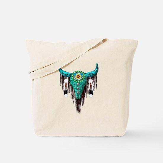 Turquoise Buffalo Tote Bag