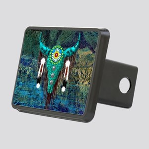Turquoise Buffalo Rectangular Hitch Cover