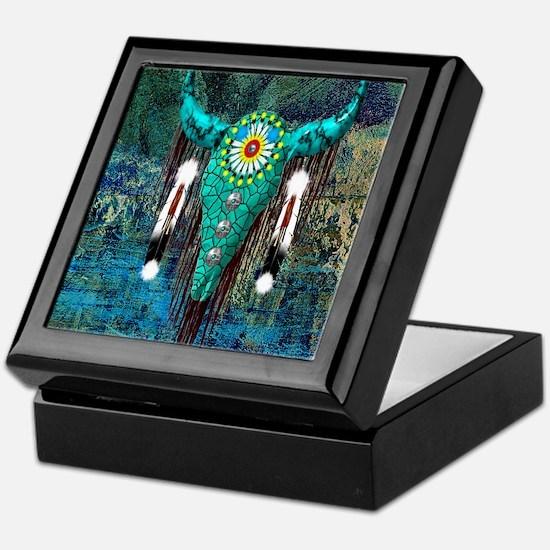 Turquoise Buffalo Keepsake Box