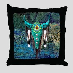 Turquoise Buffalo Throw Pillow