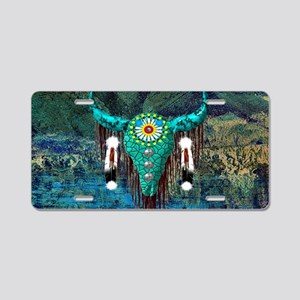 Turquoise Buffalo Aluminum License Plate