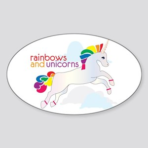 Rainbow And Unicorns Sticker