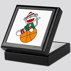 Sock Monkey Basketball Keepsake Box