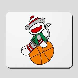 Sock Monkey Basketball Mousepad