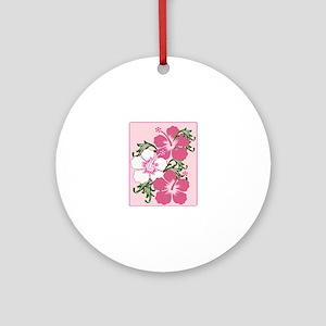 Hibiscus Base Ornament (Round)