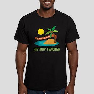 Retired History teache Men's Fitted T-Shirt (dark)