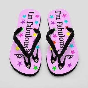 I Am Fabulous Flip Flops