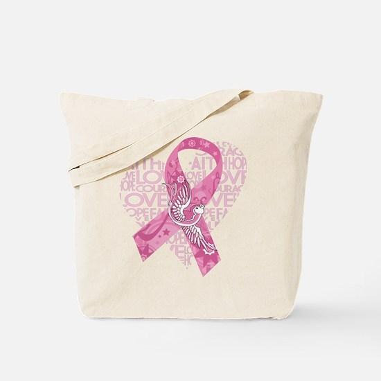 Breast Cancer Faith Love Bird Tote Bag