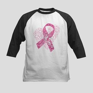 Breast Cancer Faith Love Bird Baseball Jersey