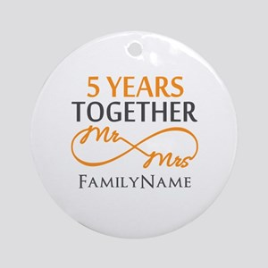 5th wedding anniversary Ornament (Round)