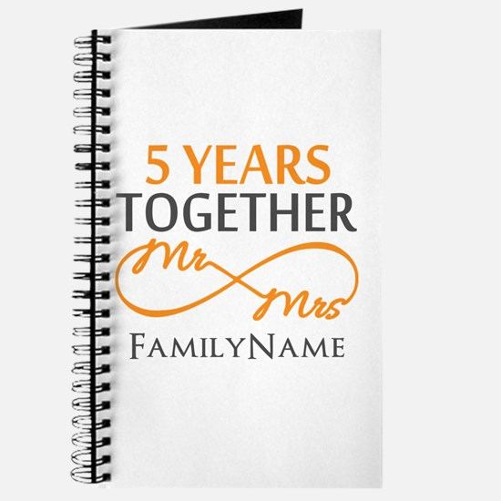 5th wedding anniversary Journal