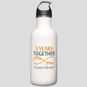 5th wedding anniversar Stainless Water Bottle 1.0L