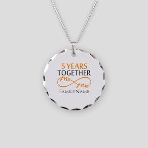 5th wedding anniversary Necklace Circle Charm
