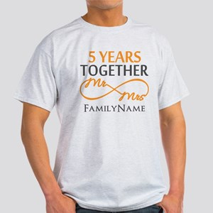 5th wedding anniversary Light T-Shirt