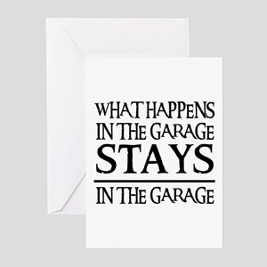 STAYS IN THE GARAGE Greeting Cards (Pk of 10)