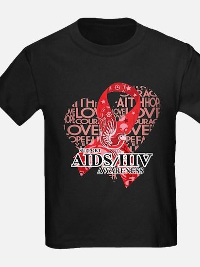 AIDS HIV Love Hope Bird T-Shirt