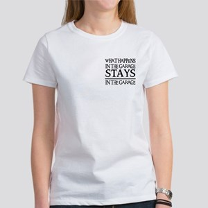 STAYS IN THE GARAGE Women's T-Shirt