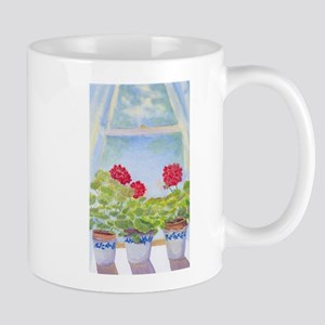 MOE'S GERANIUMS Mugs