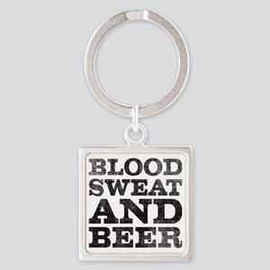 Blood, sweat and beer Square Keychain