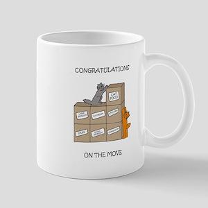 Congratulations on the move. Mugs