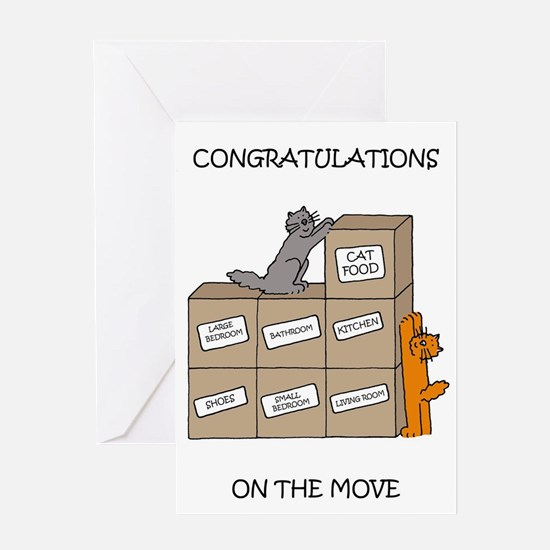 Congratulations on the move. Greeting Cards
