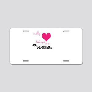 My heart Aluminum License Plate