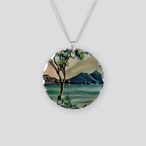 The Bay Of Naples Necklace Circle Charm