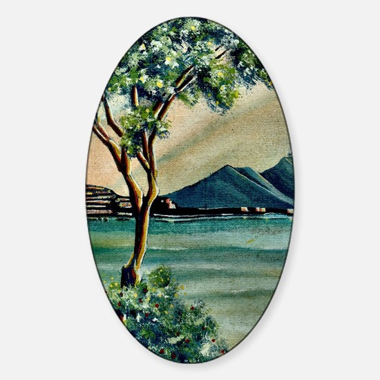 The Bay Of Naples Sticker (Oval)