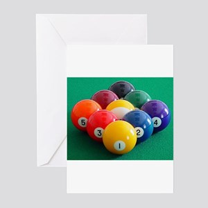 9 Ball Rack Greeting Cards (Pk of 10)