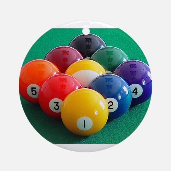 9 Ball Rack Ornament (Round)