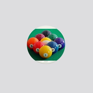 9 Ball Rack Mini Button